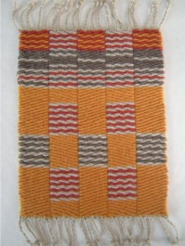 Weft Faced Block Weave